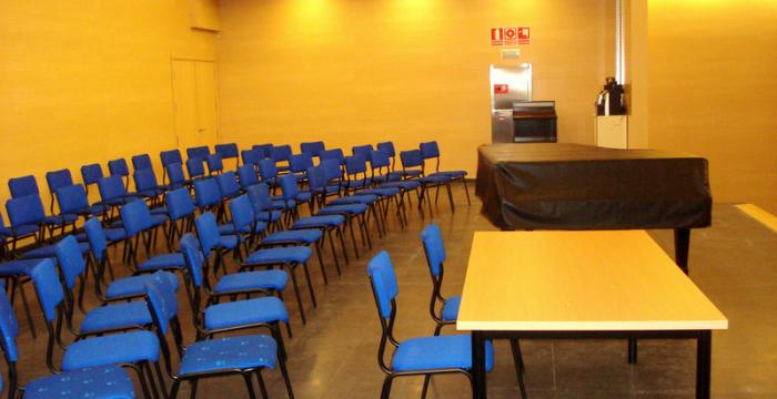 Escenario del salón de actos